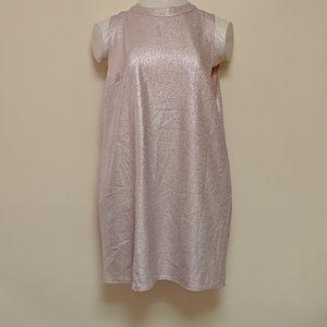 Pink & silver tunic dress 16 Dorothy perkins